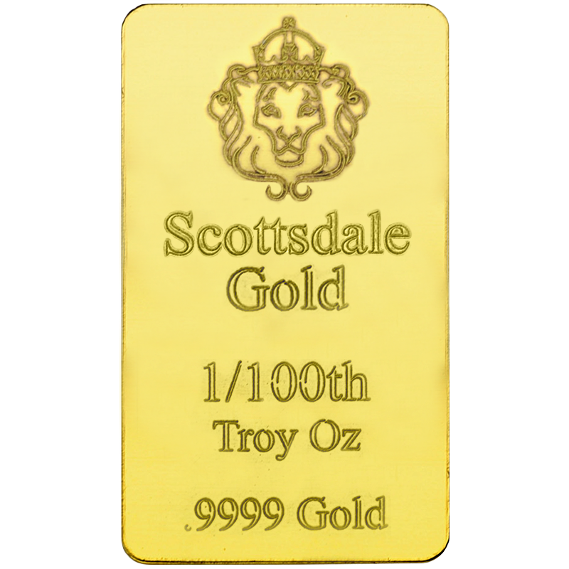 Image for 1/100 oz Scottsdale Gold Bar from TD Precious Metals